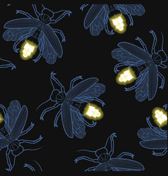 Firefly seamless pattern vector