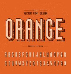 font and alphabet sketch letter design vector image