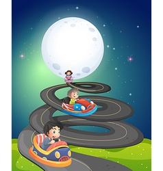 Fullmoon and road vector image