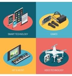 Gadgets Isometric Design vector
