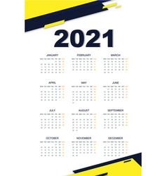 Geometric calendar 2021 vector