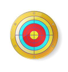 gold color target luxury circle frame on white vector image