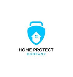 home protect logo design vector image