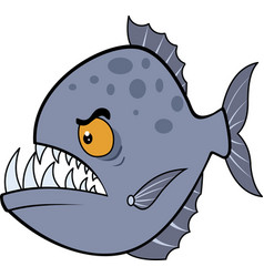 hungry piranha eps vector image
