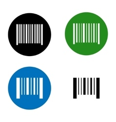 icon barcode vector image