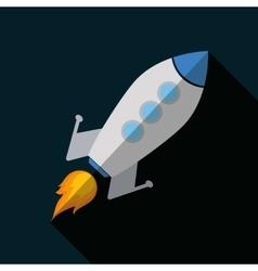 Icon design of rocket vector image