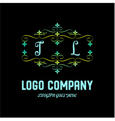 il letter initial monogram brand logo template vector image