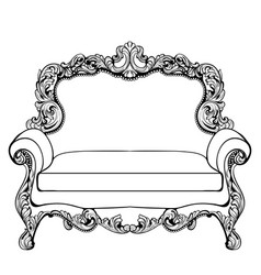 imperial baroque couch with luxurious ornaments vector image