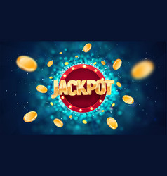 Jackpot golden text on retro red board vector