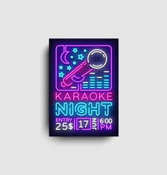 Karaoke design poster karaoke party design vector