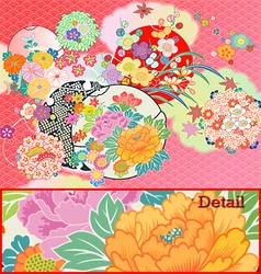 kimono vector image