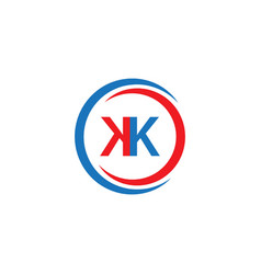 kk company logo template design vector image