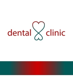 Logo template for dentist clinic vector image