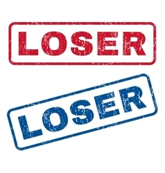 Loser Rubber Stamps vector