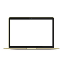 modern rich golden ultrabook notebook laptop vector image