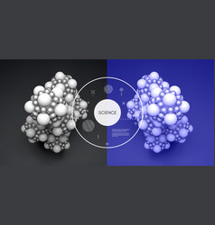 molecule 3d concept for science vector image
