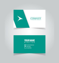 name card design template vector image