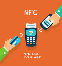 nfc payment vector image