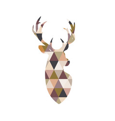 portrait of a deer with patchwork texture vector image