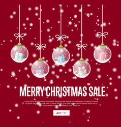 poster for christmas sale in web vector image