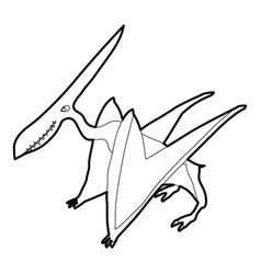 Pterodactyl icon outline vector