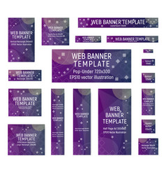 Purple web banners vector
