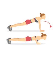Push ups tabata exercises vector
