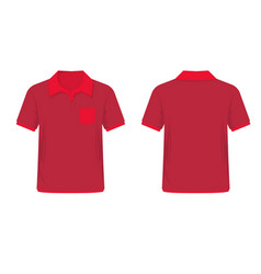 Red men polo shirt vector