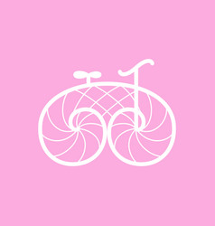 Retro bicycle line art design vector