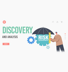 risk management discovery and analysis landing vector image