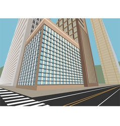 Road and city scene vector image