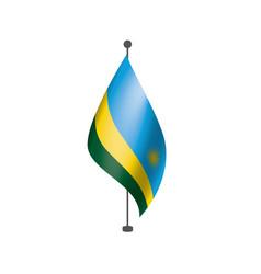 Rwanda flag on a white vector
