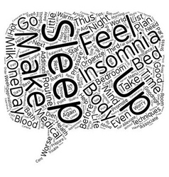 Say Goodnight to Insomnia text background vector