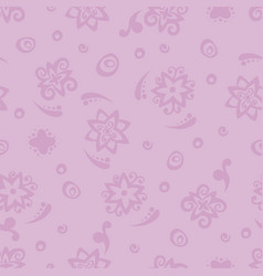 Seamless background pattern with purple flowers vector