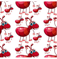 Seamless pattern tile cartoon with ant vector