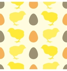 Seamless pattern with chick vector