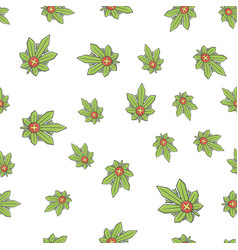 Seamless texture medical marijuana two vector