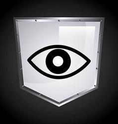 security shield design vector image