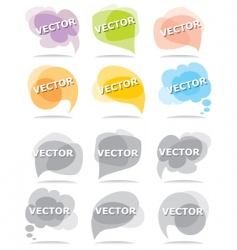 set bubbles for speech vector image