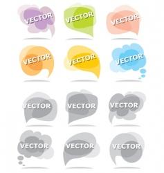 set bubbles for speech vector image