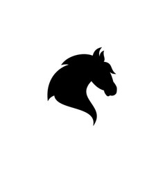 Silhouette head horse vector