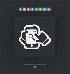 smartphone icon file search vector image