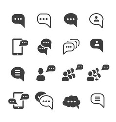 speech message talk text bubble icons set vector image