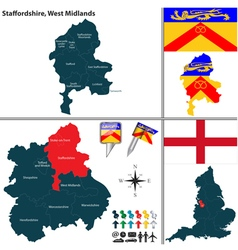 Staffordshire West Midlands vector