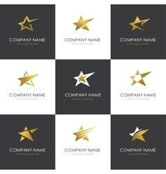 Star logo set vector