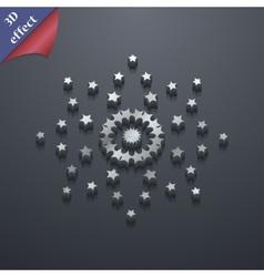 Stars icon symbol 3D style Trendy modern design vector image