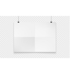stock realistic mockup poster vector image