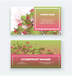 strawberry pattern design templates product hand vector image