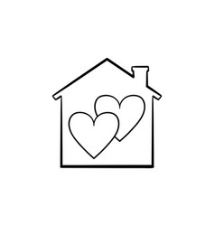 sweet home hand drawn sketch icon vector image