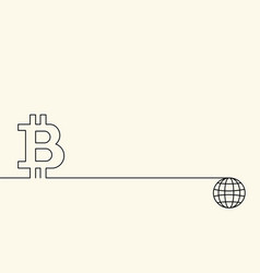 symbol of digital crypto currency bitcoin and vector image
